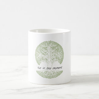 Live in the Moment Tree Classic White Coffee Mug