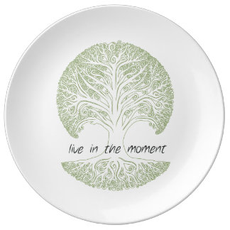 Live in the Moment Tree Dinner Plate