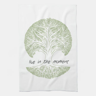 Live in the Moment Tree Kitchen Towel
