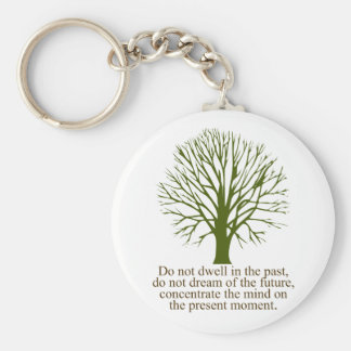 Live in the Present Moment Basic Round Button Keychain