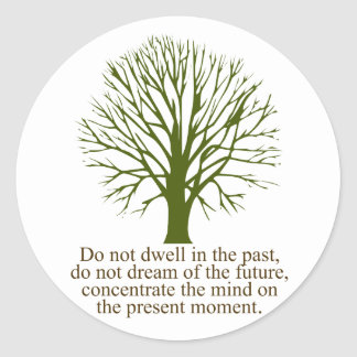 Live in the Present Moment Classic Round Sticker