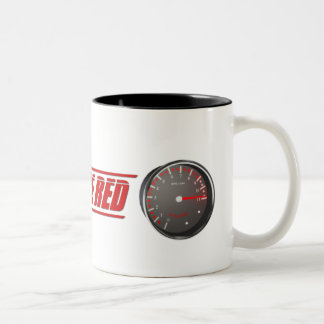 Live In The Red Two-Tone Coffee Mug