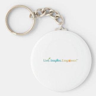 Live. Inspire. Empower! Basic Round Button Keychain