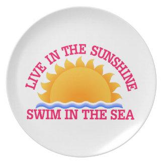 Live InThe Sunshine Plates