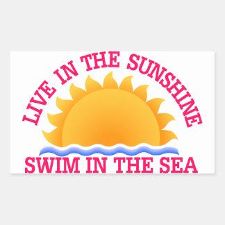 Live InThe Sunshine Rectangular Sticker