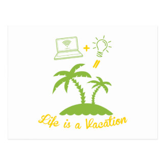 Live is a vacation postcard