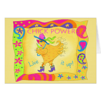 Live It Up Chick Power Note Card