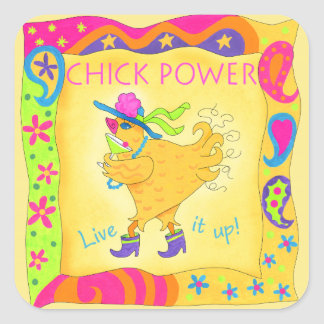 Live It Up Chick Power Stickers