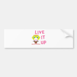Live It Up-Cute Monkey-Morocko Bumper Sticker
