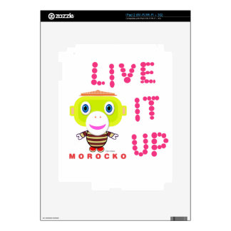 Live It Up-Cute Monkey-Morocko Decals For iPad 2