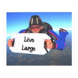 Live Large Postcard