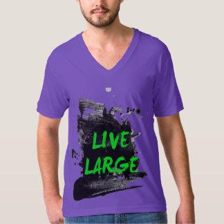 live large purple shirt