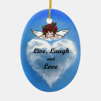 Live, Laugh and Love Ceramic Ornament