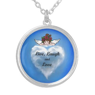 Live, Laugh and Love Personalized Necklace