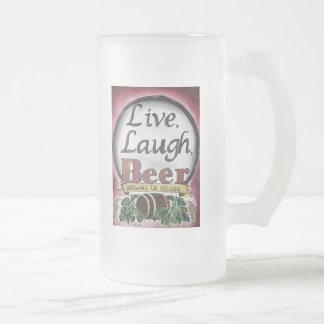 Live, Laugh, Beer Brewing Company Mug