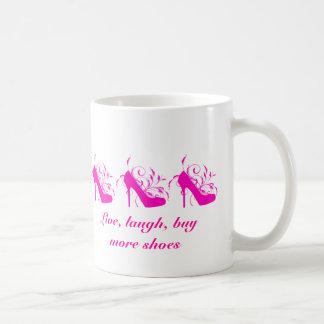 Live, Laugh, Buy More Shoes Mug