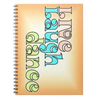 Live, Laugh, Dance Notebook