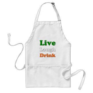 Live Laugh Drink Adult Apron
