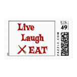 Live Laugh EAT Postage Stamp