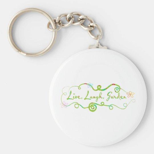 Live, Laugh, Garden. Keychain