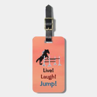Live! Laugh! Jump! Equestrian Horse Bag Tag