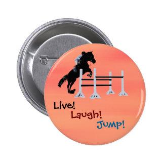 Live Laugh Jump Equestrian Horse Pins