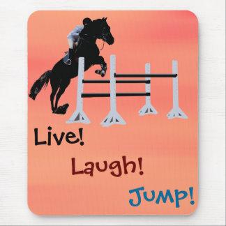 Live! Laugh! Jump! Equestrian Horse Mouse Pad