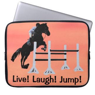 Live! Laugh! Jump! Horse Jumper Computer Sleeve
