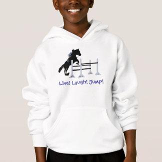 Live! Laugh! Jump! Horse Jumper Hoodie