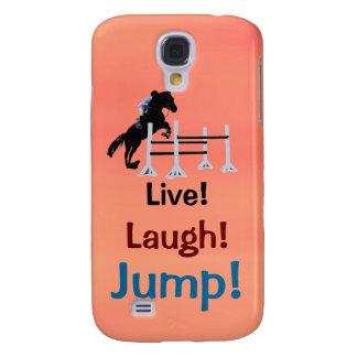 Live! Laugh! Jump! Horse Jumper Samsung Galaxy S4 Cover