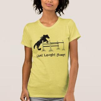 Live! Laugh! Jump! Horse Jumper Tanktops