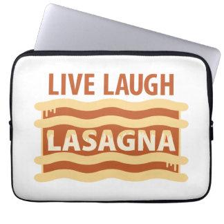 Live Laugh Lasagna Laptop Sleeve