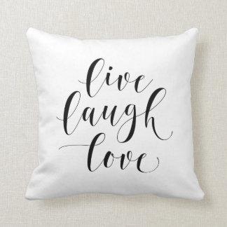 Live Laugh Love 16x16 Throw Pillow