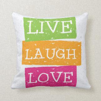 Live Laugh Love 2 Throw Pillow