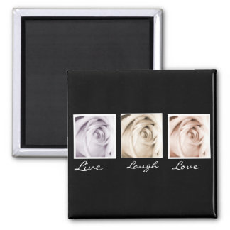Live, Laugh,Love 3 rose magnet