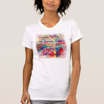 Live Laugh Love Abstract Textured Plaid Pattern T-Shirt