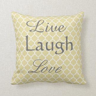 Live Laugh Love Arabesque Pillow