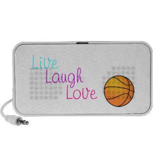 Live Laugh Love Basketball Speaker