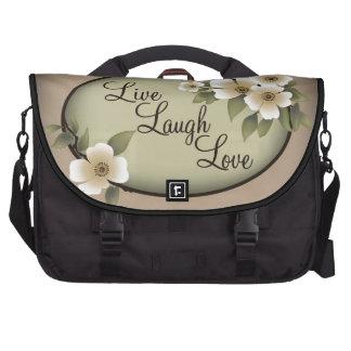 Live Laugh Love blossom Laptop Bags