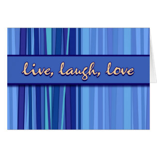 Live Laugh Love Blue Mother's Day Greeting Card