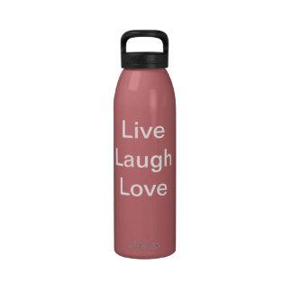 Live Laugh Love Bottle Water Bottle