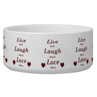 Live Laugh Love Bowl