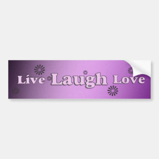 Live laugh love bumper sticker car bumper sticker