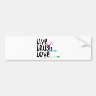 Live Laugh Love Car Bumper Sticker