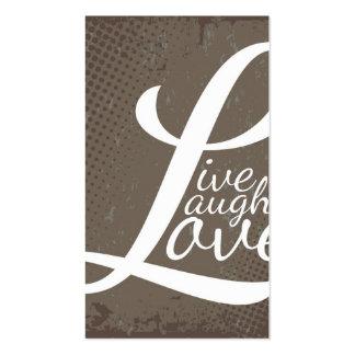LIVE LAUGH LOVE BUSINESS CARD