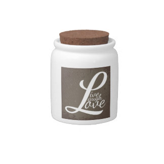 LIVE LAUGH LOVE CANDY JAR