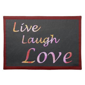 Live Laugh Love Cloth Placemat