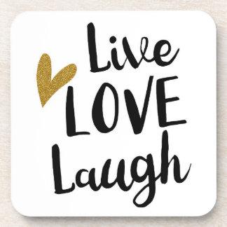 """Live, Laugh, Love"" Coasters"