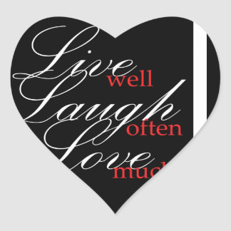 LIve Laugh Love Collection Stickers