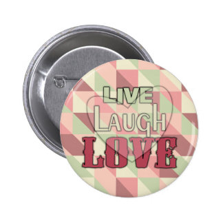 Live Laugh Love Country Pink Pins